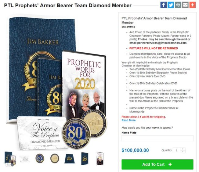 prophetic word donation
